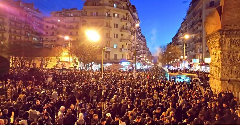 Το συλλαλητήριο σε εικόνες