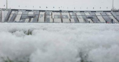Προπόνηση στην χιονισμένη Τούμπα! (pics)