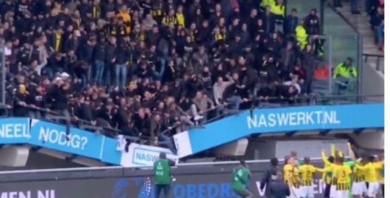 ΣΟΚ: Κατέρρευσε εξέδρα στην Ολλανδία (video)